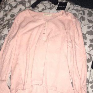 Pink Crop Long Sleeve